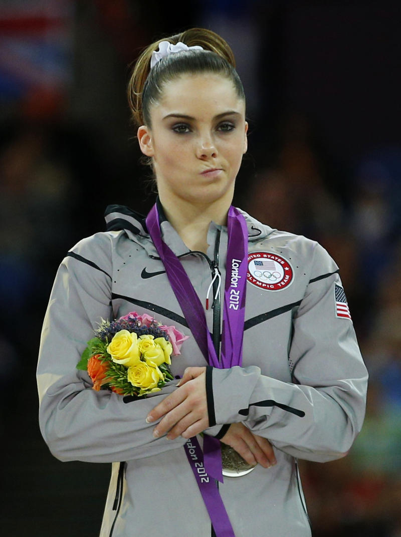 McKayla Maroney's famous face, which shows her frowning while receiving a silver medal in the women's vault victory ceremony during the London 2012 Olympic Games August 5, 2012. (Photo: REUTERS/Brian Snyder)