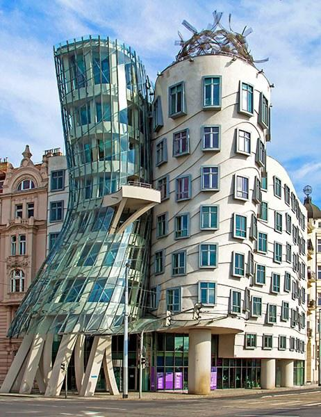 The Dancing House in Prague.