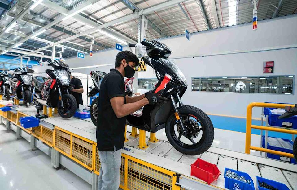 Currently equipped to churn out 1.1 lakh units annually, Ather's Hosur plant can be scaled up to produce half a million scooters every year. Image: Ather Energy