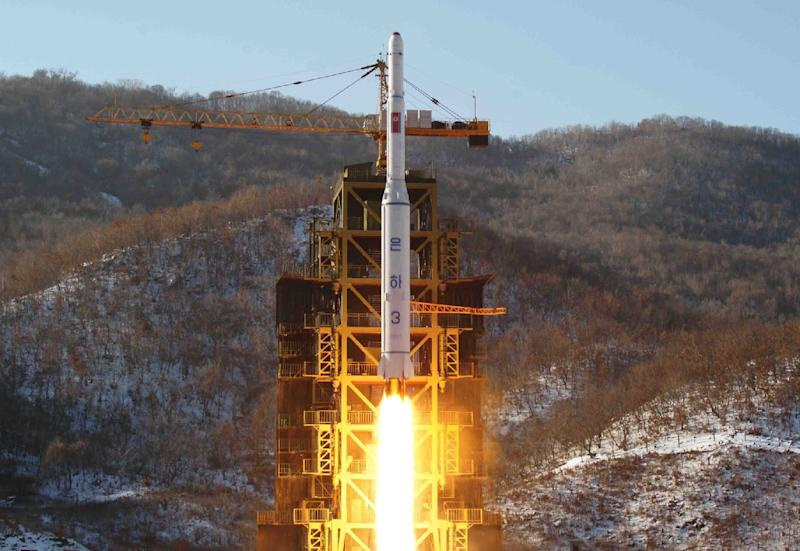 North Korea's last satellite in 2012 triggered global outrage and UN condemnation (AFP Photo/)