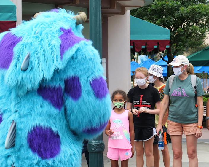 Disney World re-opening coronavirus masks Monsters Inc