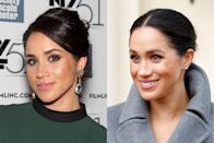 <p>Before Meghan's royal days, she was best known for her role as Rachel in <em>Suits </em>and never shied away from a smokey eye on the red carpet. These days, the Duchess opts for a more natural and simple look.</p>