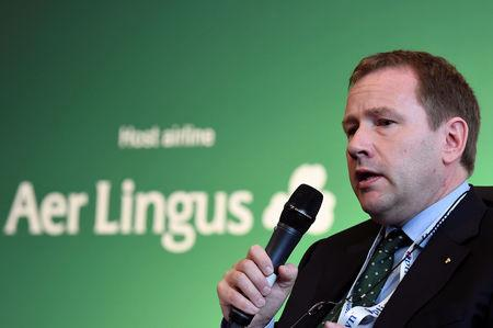 Stephen Kavanagh, CEO of Aer Lingus, speaks in Dublin, June 2016. REUTERS/Clodagh Kilcoyne