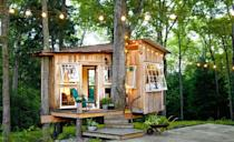 """<p>This treehouse-slash-guest room looks small from the outside, but boasts a living room, office area, and bedroom within.</p><p><a class=""""link rapid-noclick-resp"""" href=""""https://www.countryliving.com/home-design/house-tours/g3574/treehouse-tennessee/"""" rel=""""nofollow noopener"""" target=""""_blank"""" data-ylk=""""slk:SEE INSIDE"""">SEE INSIDE</a></p>"""