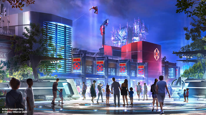 Disneyland's Avengers campus (Credit: Disney/Marvel)