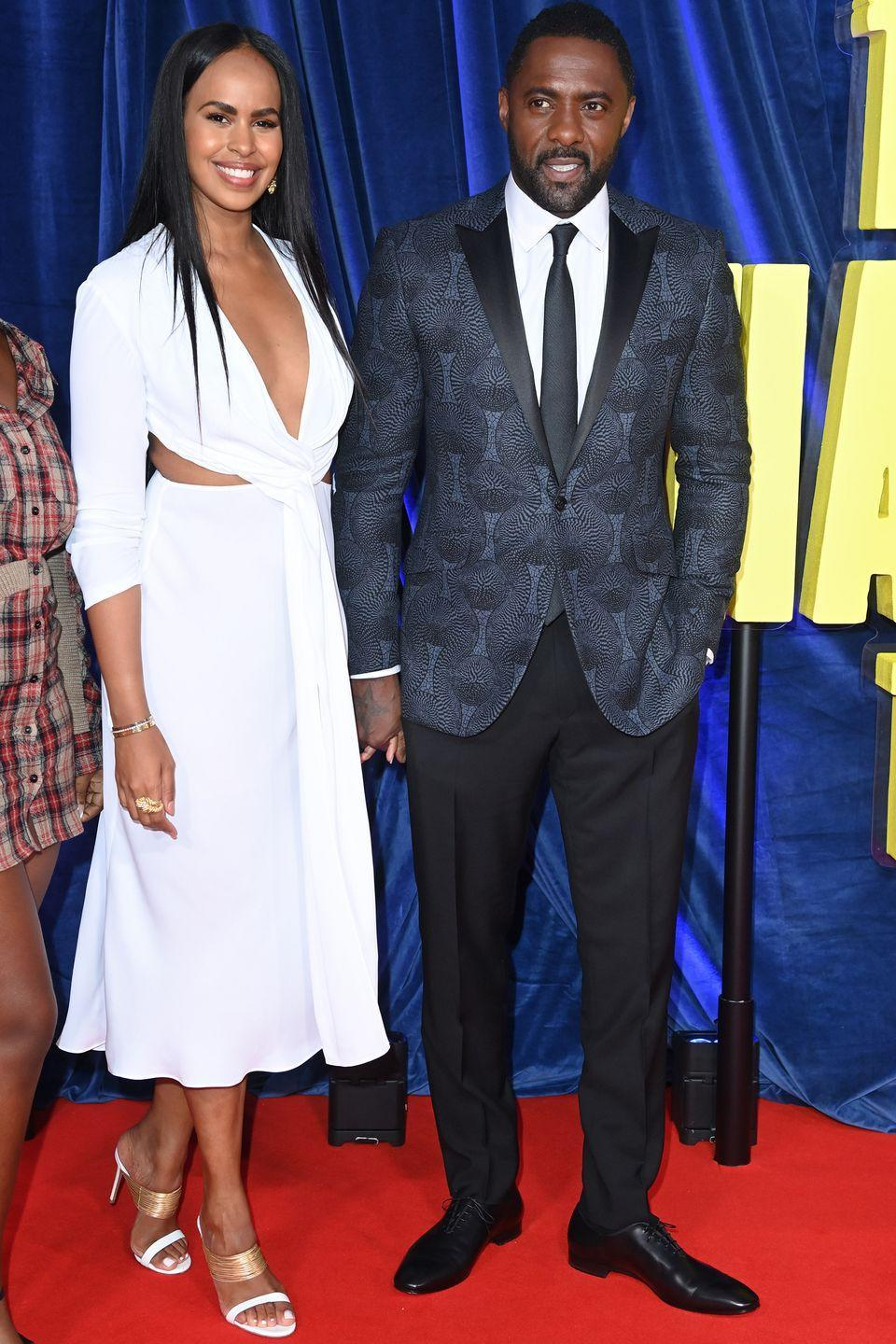 <p><strong>6 October</strong></p><p>Sabrina Dhowre Elba, in Alberta Ferretti, and Idris Elba posed together on the red carpet. </p>