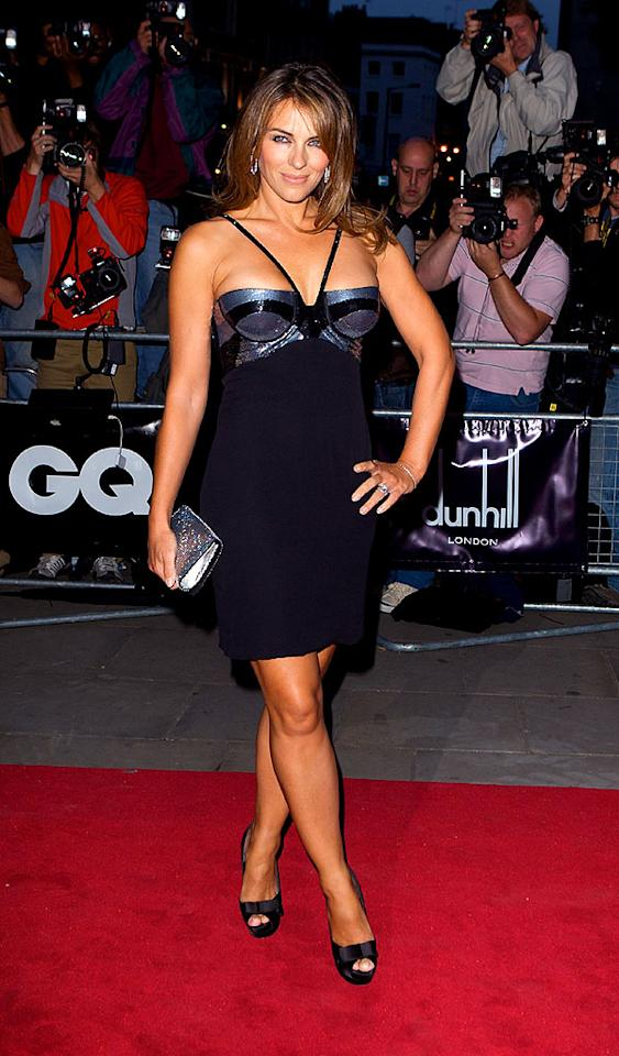 """Liz Hurley showed off her assets in a revealing dress. If you've got it, flaunt it! Mike Marsland/<a href=""""http://www.wireimage.com"""" target=""""new"""">WireImage.com</a> - September 2, 2008"""