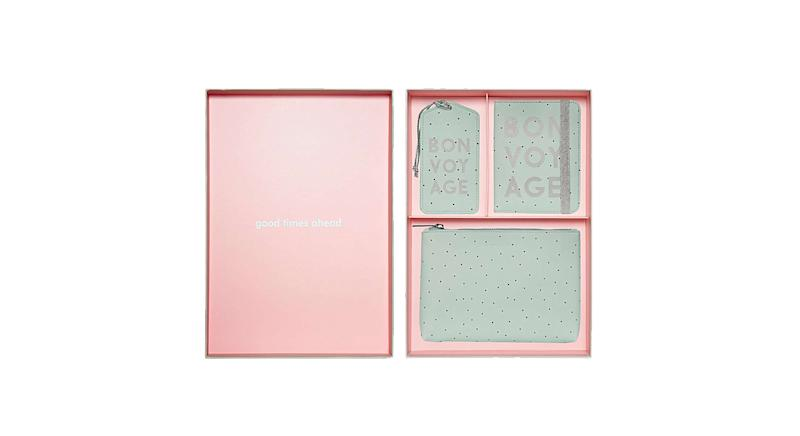 Spotted Green Bon Voyage Travel Accessories Gift Set
