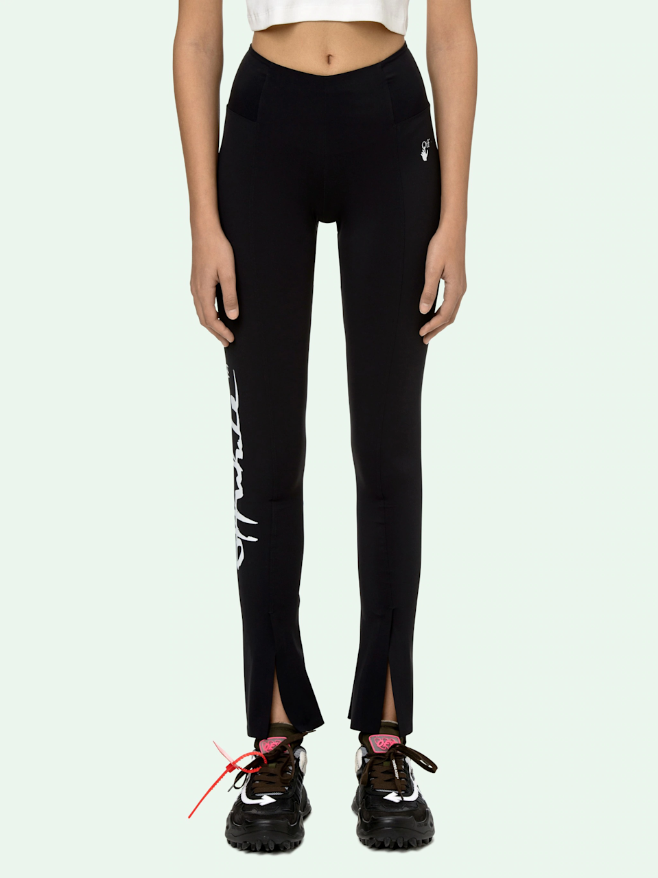 """<br><br><strong>Off White</strong> Split Leggings, $, available at <a href=""""https://go.skimresources.com/?id=30283X879131&url=https%3A%2F%2Fwww.off---white.com%2Fen-us%2Fshopping%2Foff-white-split-leggings-15284429"""" rel=""""nofollow noopener"""" target=""""_blank"""" data-ylk=""""slk:Off White"""" class=""""link rapid-noclick-resp"""">Off White</a>"""