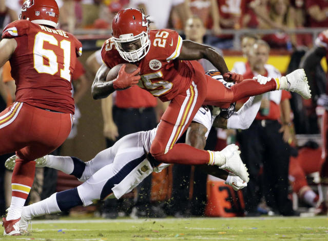 Jamaal Charles lasted only five games in 2015 for the Chiefs, but Kansas City still made the postseason that year. (AP)