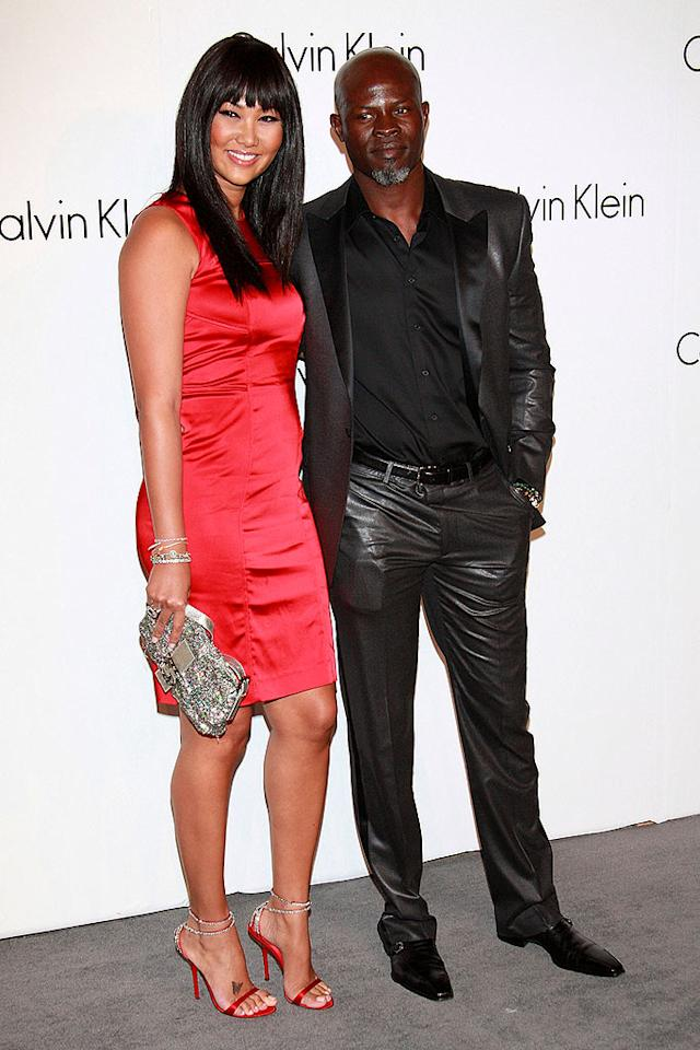 "Kimora Lee Simmons and Djimon Hounsou arrive at Calvin Klein's 40th anniversary party in Manhattan. Djimon is the face ... er ... body of CK's Steel underwear line. Steve Mack/<a href=""http://www.filmmagic.com/"" target=""new"">FilmMagic.com</a> - September 7, 2008"