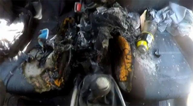 The car was destroyed. Image: 7news