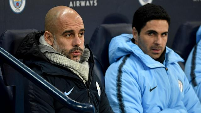 Arteta Guardiola Manchester City