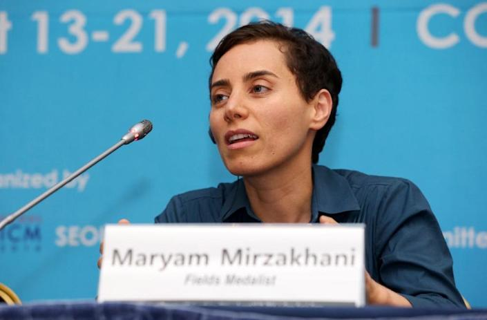 Mathematics genius Maryam Mirzakhani won a string of honours during her career including the coveted Fields Medal in 2014 (AFP Photo/STR)