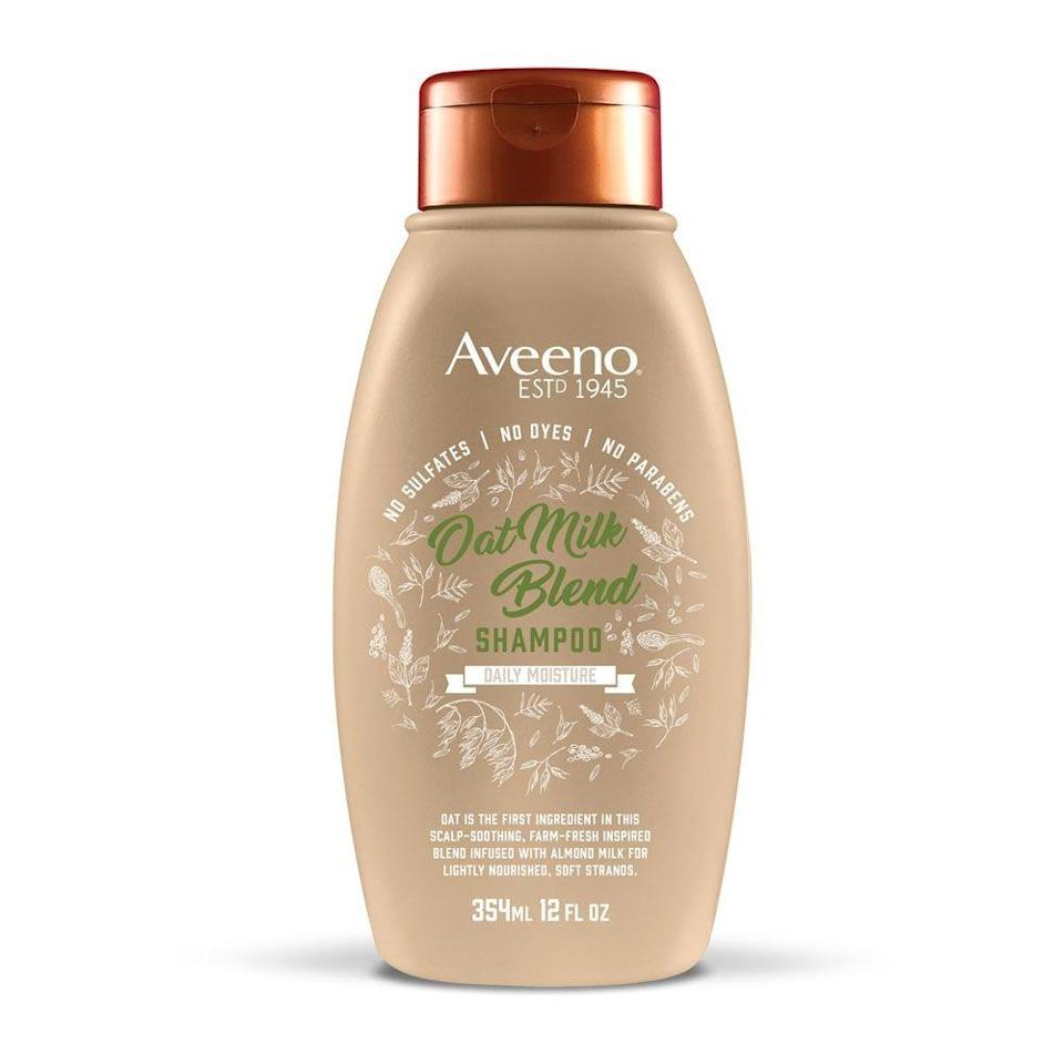 """<p><strong>Aveeno</strong></p><p>target.com</p><p><strong>$6.99</strong></p><p><a href=""""https://www.target.com/p/-/A-75563408"""" rel=""""nofollow noopener"""" target=""""_blank"""" data-ylk=""""slk:Shop Now"""" class=""""link rapid-noclick-resp"""">Shop Now</a></p><p>No longer reserved for your iced latte, oat milk is taking over your shampoo too. Oats are the first ingredient in this nourishing formula, which is free of sulfates, parabens, and dyes.</p>"""