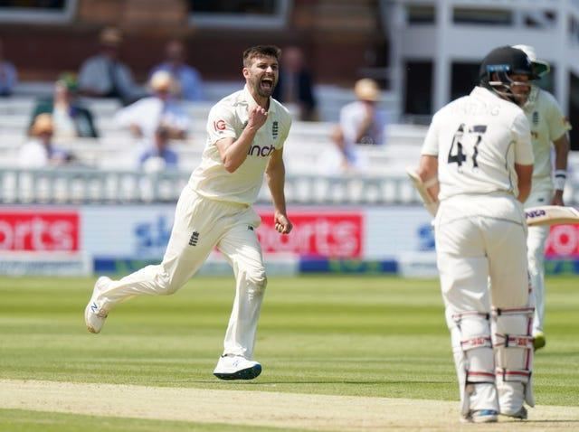 Mark Wood takes a wicket