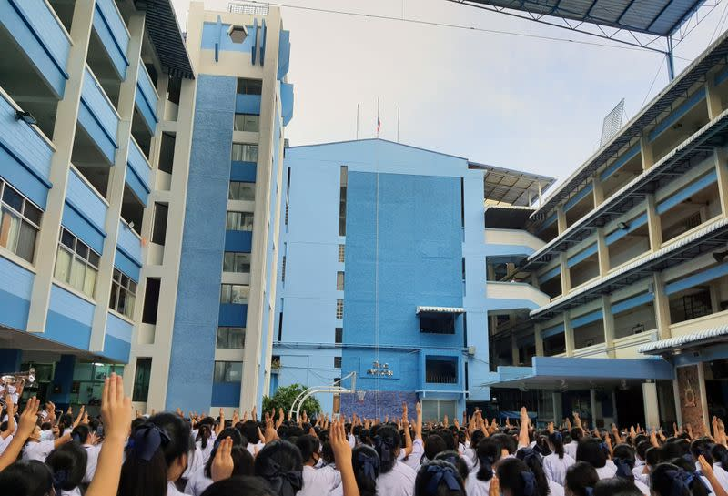 Thai school 'Hunger Games' salute protests spread