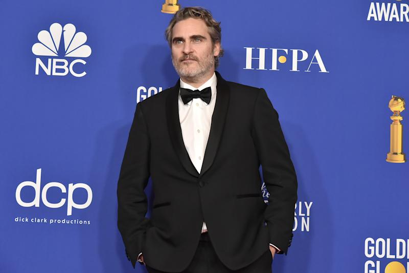BEVERLY HILLS, CALIFORNIA - JANUARY 05: Joaquin Phoenix attends The 77th Golden Globes Awards - Press Room at The Beverly Hilton Hotel on January 05, 2020 in Beverly Hills, California. (Photo by David Crotty/Patrick McMullan via Getty Images)