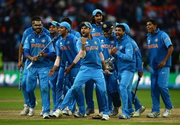 The jersey worn by the Indian side during the ICC Champions Trophy was quite similar to the one worn during the 2011 World Cup