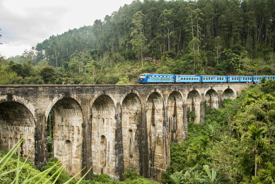Nine Arches Bridge also called the Bridge in the Sky is a bridge in Sri Lanka and it is one of the best examples of colonial-era railway construction in the country.