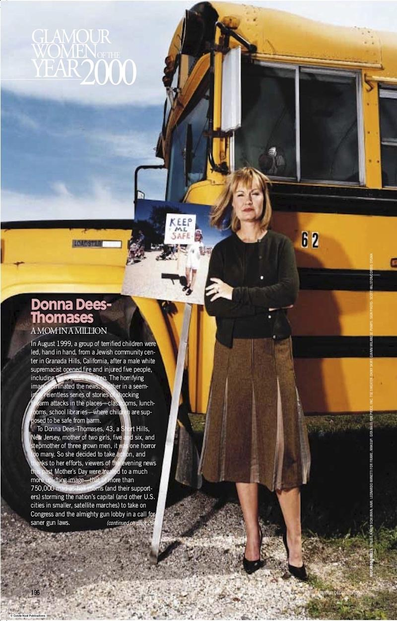 The feature in Glamour's 2000 Women of the Year issue on Donna Dees-Thomases