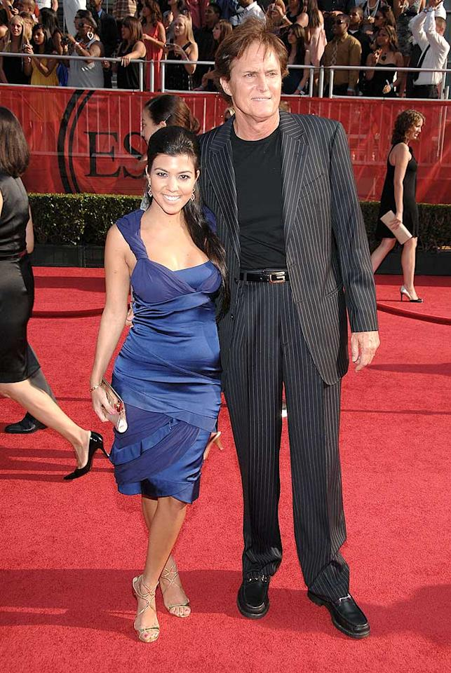 """Kourtney Kardashian accompanied her stepfather Bruce Jenner to the event. In case you didn't know, Jenner won the decathlon at the 1976 Summer Olympics in Montreal. John Shearer/<a href=""""http://www.wireimage.com"""" target=""""new"""">WireImage.com</a> - July 16, 2008"""