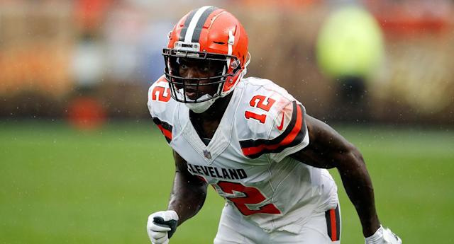 Josh Gordon caught a TD pass in Week 1, but the Browns will have to try and find the end zone without him in Week 2. (AP)