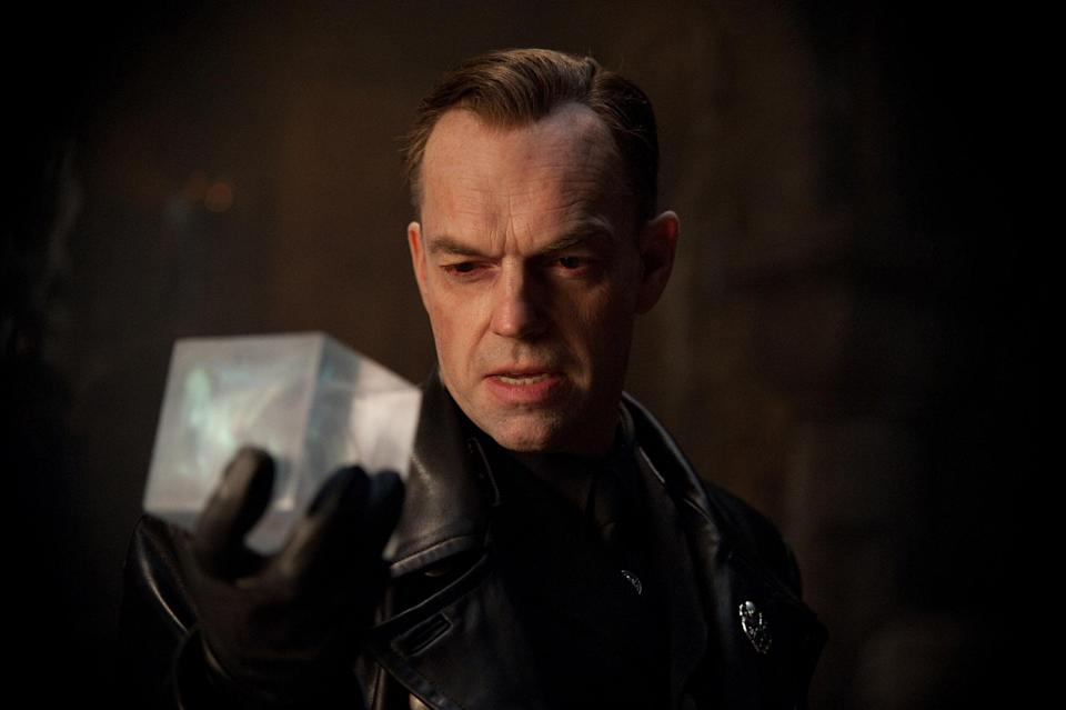 Hugo Weaving contemplates the Tesseract in <em>Captain America: The First Avenger.</em> (Photo: Jay Maidment/Paramount Pictures/Courtesy Everett Collection)