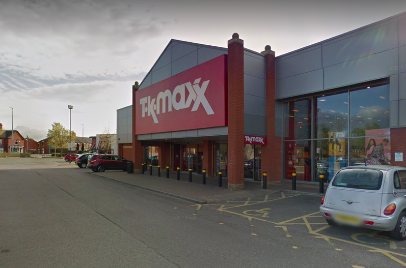 The incident is said to have took place at a TK Maxx store in Crewe. (Reach)