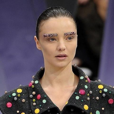 Beaded brows AW12 - Credit: Pascal Le Segretain/Getty Images