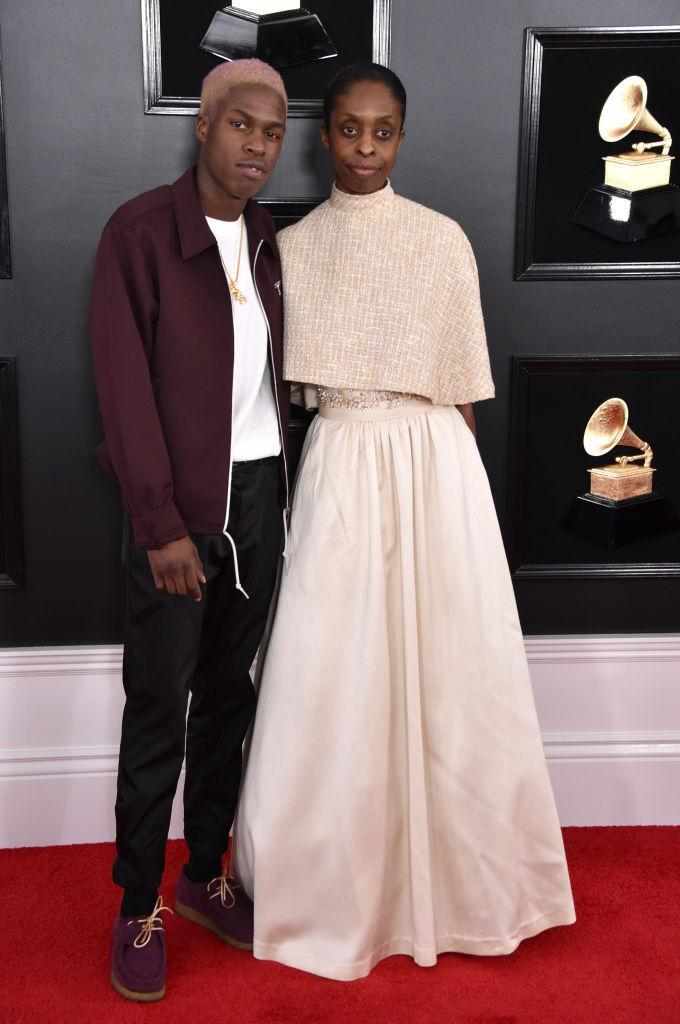 <p>Daniel Caesar, left, and guest attend the 61st annual Grammy Awards at Staples Center on Feb. 10, 2019, in Los Angeles. </p>