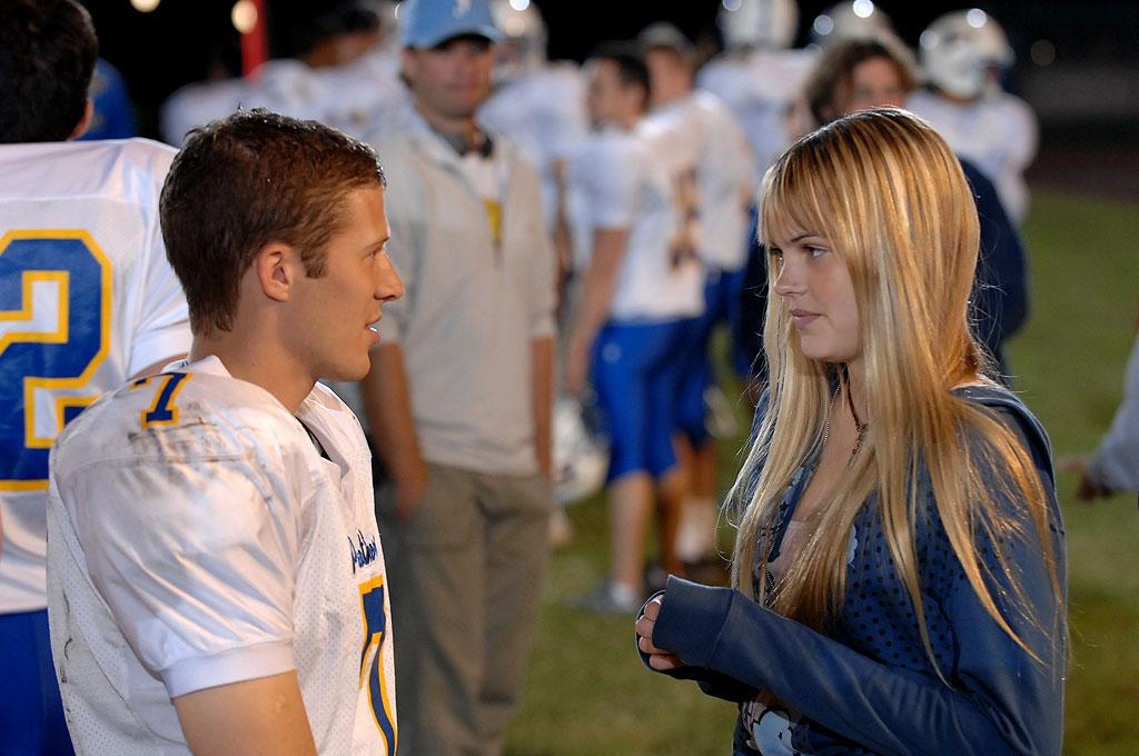 """<a href=""""/aimee-teegarden/contributor/1238733"""">Julie</a> finally reciprocates <a href=""""/zach-gilford/contributor/2137572"""">Matt</a>'s interest and agrees to go on a date with him.  <a href=""""/friday-night-lights/show/38958"""">Friday Night Lights</a>"""