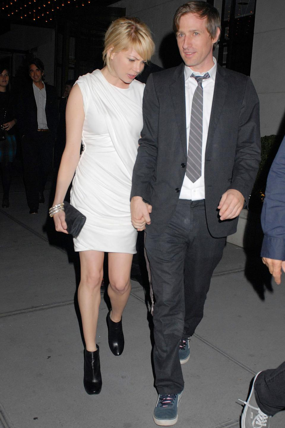 Michelle Williams and Spike Jonze at Gramercy Park Hotel in New York City on Oct. 15, 2008. (Photo: Justin Campbell/BuzzFoto/FilmMagic)