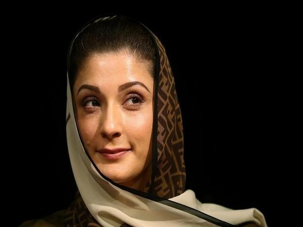 PML-N leader Maryam Nawaz speaking at the Sunday's anti-government rally.