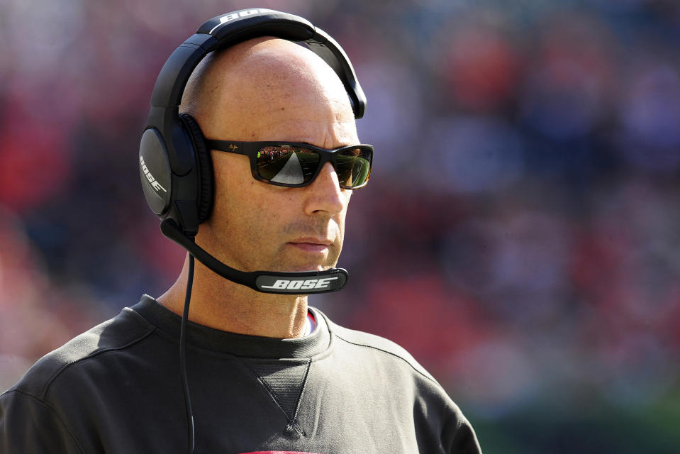 Mike Bajakian spent the last four seasons as quarterbacks coach for the Tampa Bay Buccaneers. (Getty Images)