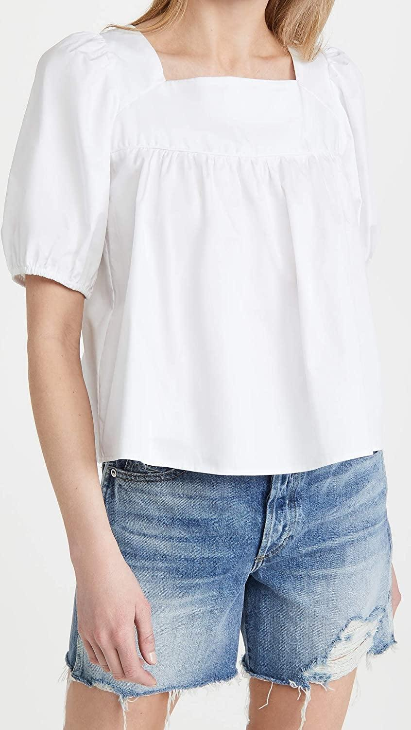 <p>Headed to the beach? Grab this relaxed yet stylish <span>Glamorous Puff Sleeve Top</span> ($59) on your way out.</p>