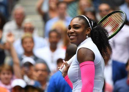 Sept 3, 2016; New York, NY, USA;    Serena Williams of the USA after beating  Johanna Larsson of Sweden on day six of the 2016 U.S. Open tennis tournament at USTA Billie Jean King National Tennis Center. Mandatory Credit: Robert Deutsch-USA TODAY Sports