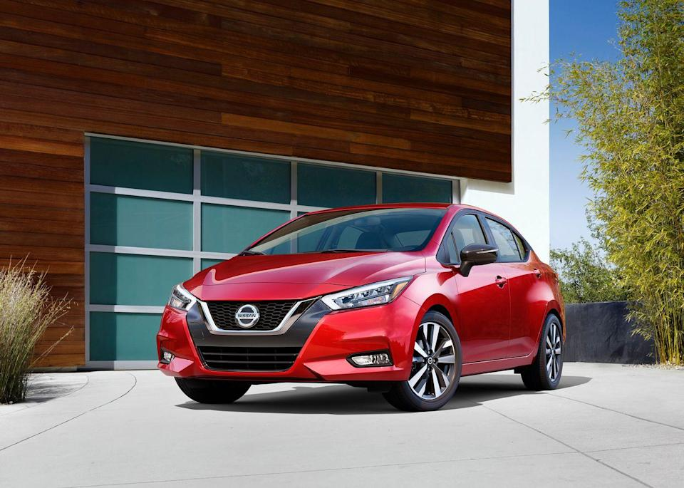 """<p>Every <a href=""""http://caranddriver.com/nissan/versa"""" rel=""""nofollow noopener"""" target=""""_blank"""" data-ylk=""""slk:Nissan Versa"""" class=""""link rapid-noclick-resp"""">Nissan Versa</a> is front-wheel drive and powered by a 122-hp inline-four, but only models equipped with the automatic transmission get an EPA combined 35 mpg. The Versa was redesigned last year and is vastly improved. It rides, drives, and steers better than before and a larger 7.0-inch touchscreen is now standard. The Versa features surprising technology for its price point such as pedestrian detection, automatic high-beams, and automated emergency braking, all standard. It's a big step ahead of the model it replaces, and even the most expensive Versa SR model starts at a respectable $19,340.</p><ul><li>Base price: $15,930</li><li>Fuel Economy EPA combined/city/highway: 35/32/40</li><li>Horsepower: 122 hp</li></ul><p><a class=""""link rapid-noclick-resp"""" href=""""http://caranddriver.com/nissan/versa/specs"""" rel=""""nofollow noopener"""" target=""""_blank"""" data-ylk=""""slk:MORE VERSA SPECS"""">MORE VERSA SPECS</a></p>"""