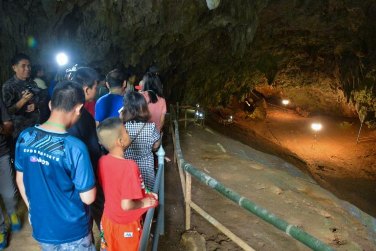 The world-famous cave in northern Thailand where a young football team were trapped last year has been re-opened to tourists (AFP Photo/Handout)