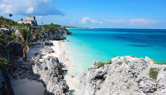 This beach is on the eastern side of the Yucatan Peninsula and is a valuable historical site with ruins from an era long gone by. The beach is still home to some Mayan remains, from a time when the civilization was waning. Tourists enjoy the pristine beach and vivid splash of history overlooked by a luscious canopy of trees.