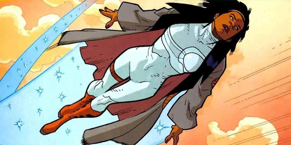 Monica Rambeau in her most recent comic book persona of Spectrum.