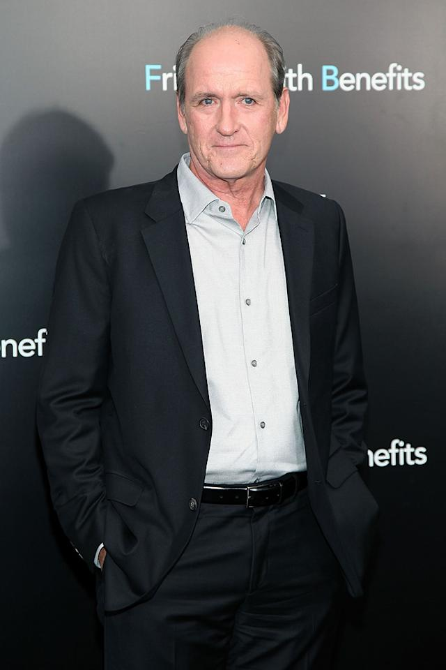 """<a href=""""http://movies.yahoo.com/movie/contributor/1800024155"""">Richard Jenkins</a> at the New York City premiere of <a href=""""http://movies.yahoo.com/movie/1810167524/info"""">Friends With Benefits</a> on July 18, 2011."""