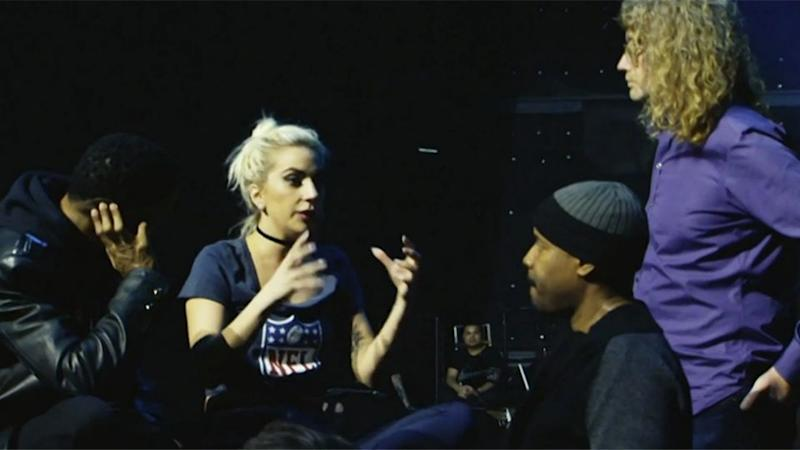 Gaga's manager said she has been training for the Super Bowl just like an athlete. Source: Pepsi