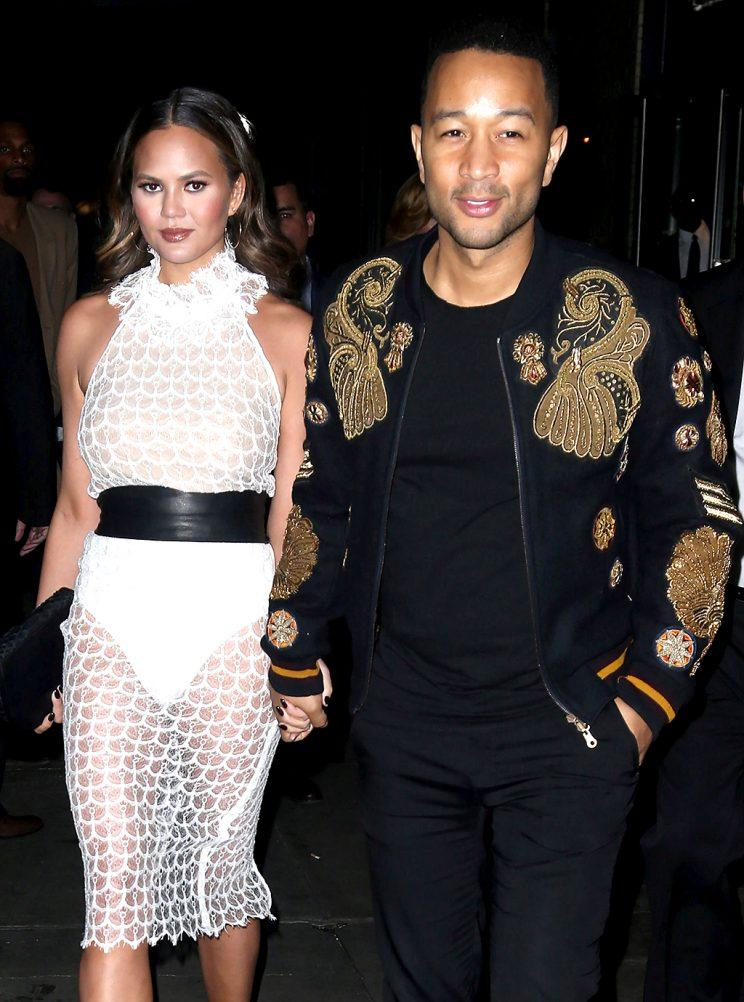 Chrissy Teigen and John Legend are a united front. (Photo: AKM-GSI)