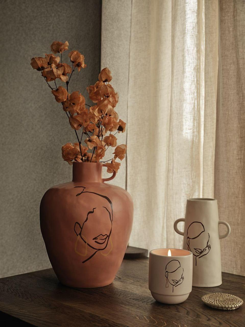 """<p>Designed by duo Sacrée Frangine, this beautiful large terracotta vase is inspired by feminine themes that explore the beauty of simple things and everyday life.</p><p>'Our pieces in the collection are gentle reminders to take time. Take time to dream, to contemplate a beautiful landscape, to smile, to spend time with people you love or miss,' says the creative duo. </p><p><a class=""""link rapid-noclick-resp"""" href=""""https://www2.hm.com/en_gb/productpage.0998162001.html"""" rel=""""nofollow noopener"""" target=""""_blank"""" data-ylk=""""slk:BUY NOW"""">BUY NOW</a></p><p><strong>Follow House Beautiful on <a href=""""https://www.instagram.com/housebeautifuluk/"""" rel=""""nofollow noopener"""" target=""""_blank"""" data-ylk=""""slk:Instagram"""" class=""""link rapid-noclick-resp"""">Instagram</a>.</strong></p>"""