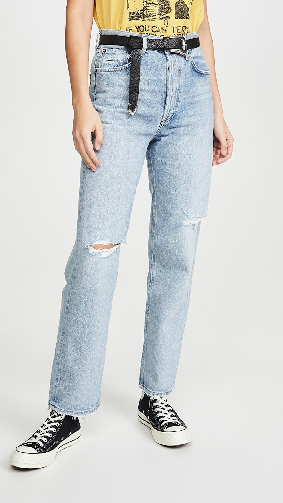 <p><span>Agolde 90's Mid Rise Loose Fit Jeans</span> ($198)</p>