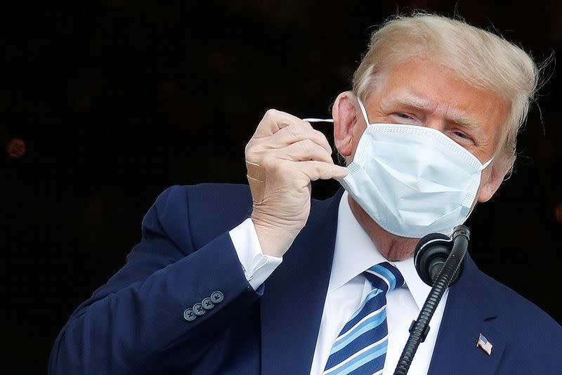 Trump says in interview he no longer has COVID-19 and is not a transmission risk