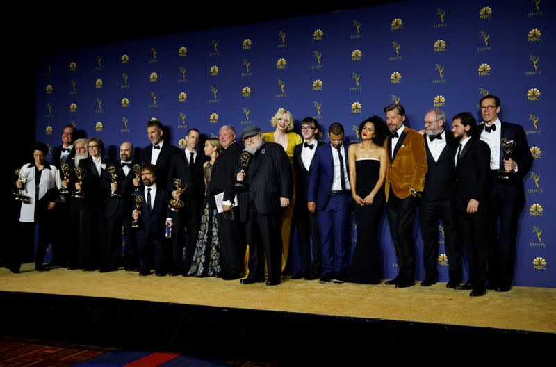 FILE PHOTO: 70th Primetime Emmy Awards - Photo Room - Los Angeles, California, U.S.