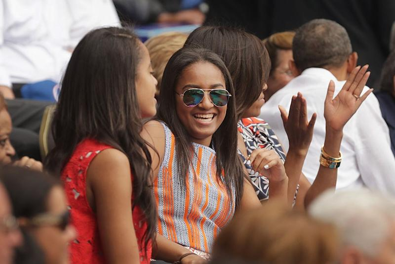Sasha Obama Debuted A Colorful New Hairstyle While Hanging Out With