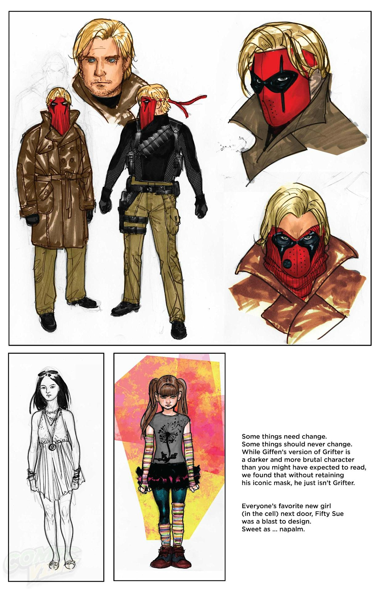 Character Sketches from THE NEW 52: FUTURES END VOL  1 Revealed
